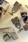 Накрайник метал двоен 5x11 мм със зъб цвят цвят антик бронз -50 броя