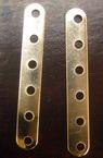 Разделител метал с 6 дупки 35x5 мм цвят бял -50 броя