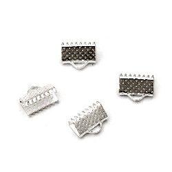 Duza metalic 10 mm pinch culoare alb -50 bucăți