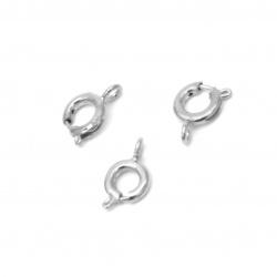 Κούμπωμα δαχτυλίδι 10x6 mm τρύπα 1,5 λευκό -20 κομμάτια