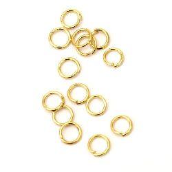 Халка метал 5x0.7 мм цвят злато -200 броя