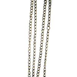 Chain 3 mm color chrome -50 cm