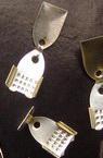Накрайник метал двоен 6x11 мм цвят бял -50 броя