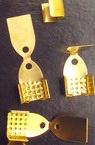 Ακροδέκτες- σφιχτηράκια μεταλλικά 6x11 mm χρυσό -50 κομμάτια