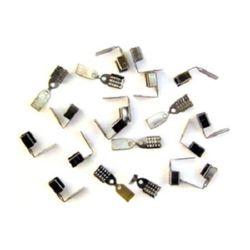 Ακροδέκτες- σφιχτηράκια μεταλλικά 6x10 mm γραφίτη -50 τεμάχια