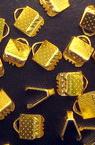 Duza metalic 6 mm pinch culoare auriu -50 bucati
