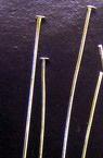 Свързващ елемент метал 38 мм с главичка цвят бял -10 грама