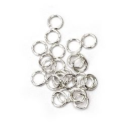 Sterling Silver Jump Rings, Close but Unsoldered, 5x0.7 mm color white -200 pieces