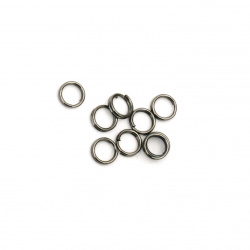 Jump Rings, Close but Unsoldered, 5x0.8 mm 100 pieces