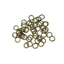 Jump Rings, Close but Unsoldered, 5x0.7 mm color antique bronze -200 pieces