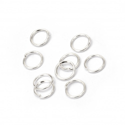 Sterling Silver Jump Rings, Close but Unsoldered, 6x0.7 mm 200 pieces