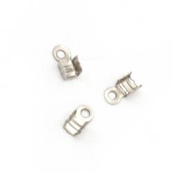 Ακροδέκτες- σφιχτηράκια μεταλλικά 3x6 mm ασημί -50