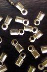 Ακροδέκτες- σφιχτηράκια μεταλλικά 25x75 mm ασημί -50 κομμάτια
