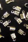Ακροδέκτες- σφιχτηράκια μεταλλικά 3x75 mm λευκό -50 τεμάχια