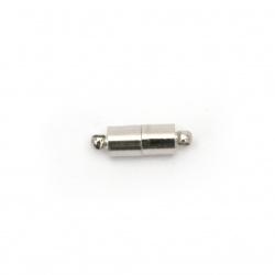 Закопчалка магнитна комплект 2 части 5x16 мм дупка 1 мм -5 комплекта