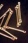 Свързващ елемент метал 20 мм цвят сребро -50 броя