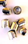 Накрайник метал шапка 6.5x7 мм цвят сребро -50 броя