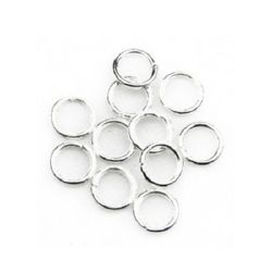 Sterling Silver Jump Rings, Close but Unsoldered, 8x1.2 mm -100 pieces