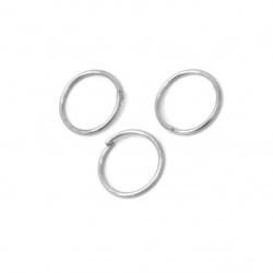 Jump Rings, Close but Unsoldered, 9x0.7 mm color white -200 pieces