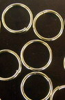 Jump Rings, Close but Unsoldered, 12x1.2 mm color silver -100 pieces