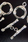 Inel de închidere set două părți 11x18 mm culoare metalică argintiu -5 seturi
