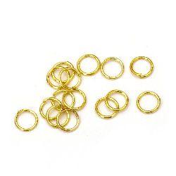 Халка метал 6x0.7 мм цвят злато -200 броя