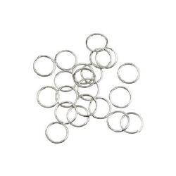 Халка метал 7x0.8 мм цвят сребро -200 броя