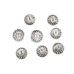 Palarie tip metal 13 mm culoare argintiu -50 bucati