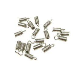 Ακροδέκτης- ελατήριο 3,5x9 mm τρύπα 2 mm ασημί NF-50