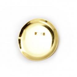 Основа за брошка метал с игла 30x6 мм цвят злато -10 броя
