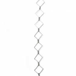 Chain 15x15x1 mm color silver-1 meter