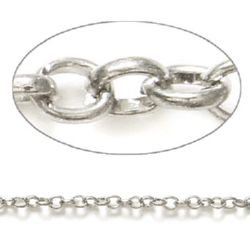 Chain 4.8x3.7 mm silver -1 meter