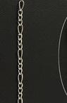 Αλυσίδα 0.6x2.5x6 mm ασημί -1 μέτρο