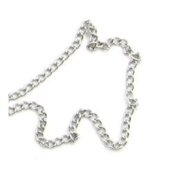 Chain 4.4x3 mm color silver -1 meter