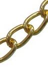 Lanț de aluminiu 7,7x5,4 mm auriu culoare -1 metru