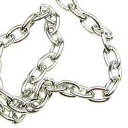 Lanț 1,4x3,8x5,8 mm culoare argint -1 metru
