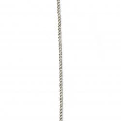 Синджир 3x2x0.5 мм цвят сребро -1 метър