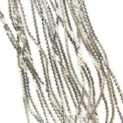 Lanț 2x1x0,5 mm argintiu -1 metru