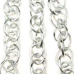 Lanț din aluminiu 19x15x2 mm culoare argintiu -1 m