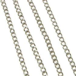 Lanț 2,5x2x0,6 mm culoare argint -1 m