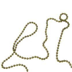 Αλυσίδα, μπαλάκια 1,5 mm αντικέ μπρονζέ -1 μέτρο