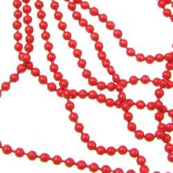 Lanț bile  2 mm culoare roșu -70 cm