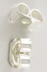 Κούμπωμα για σκουλαρίκι 3,8x5 mm τρύπα 0,9 mm λευκό -50 τεμάχια