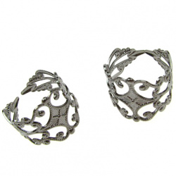 Μεταλλικό δαχτυλίδι μέγεθος 60 η 19 mm πλακίδιο 8 mm έγχρωμο γραφίτη -5 τεμάχια