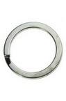 Халка за ключодържател 30x2 мм стомана цвят сребро -10 броя