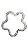 Xалка за ключодържател цвете 34x3 мм стомана цвят сребро -5 броя