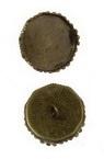 Основа за висулка метал 17x4 мм плочка 15 мм дупка 2 мм цвят антик бронз -2 броя
