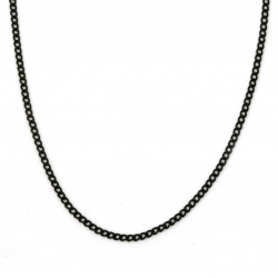 Αλυσίδα μεταλλική 3x2x0,5 mm χρώμα μαύρο -1 μέτρο