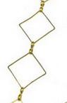 Lant 15x15x1 mm culoare auriu-1 metru