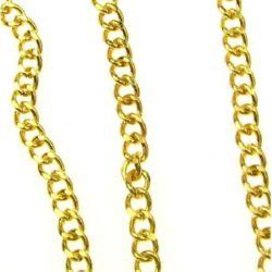 Αλυσίδα 5x3,8x1 mm χρυσό -1 μέτρο
